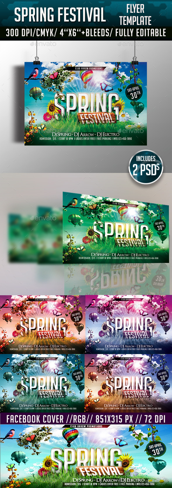 GraphicRiver Spring Festival Flyer Template 11009168