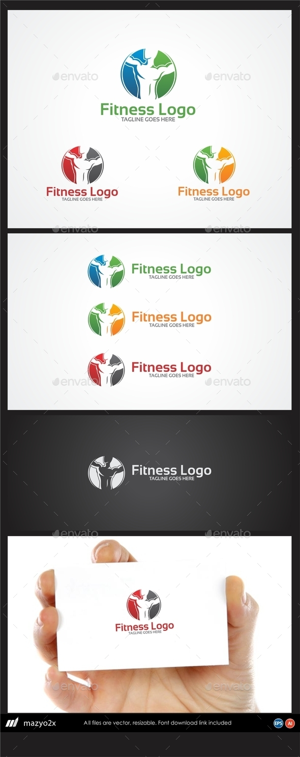 GraphicRiver Fitness Body Building Logo 11009986