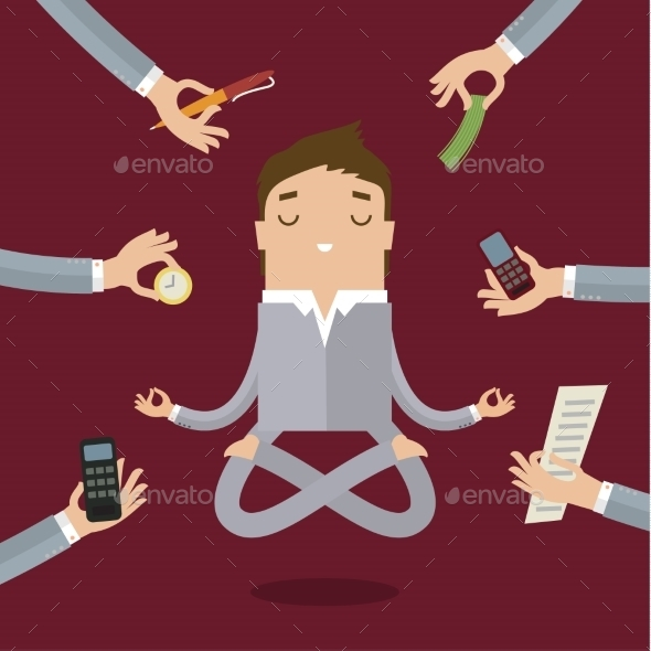GraphicRiver Businessman Doing Yoga 11010017