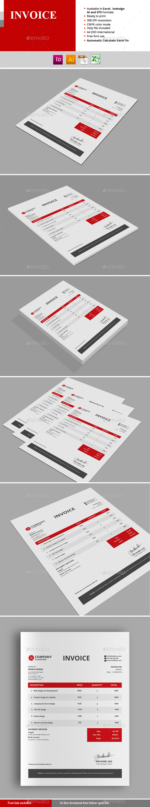 GraphicRiver Invoice 11010110