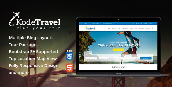 ThemeForest KodeTravel & Tourism HTML5 Template 10955201