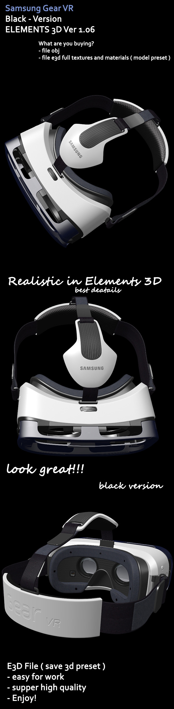 Samsung Gear VR Element3D - 3DOcean Item for Sale