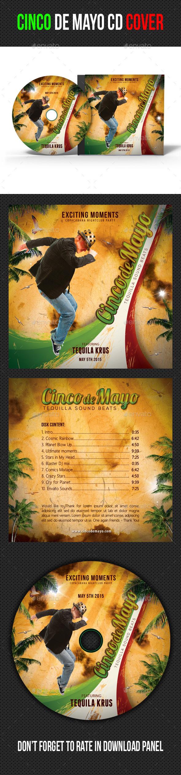 GraphicRiver Cinco de Mayo CD Cover Artwork 11010460
