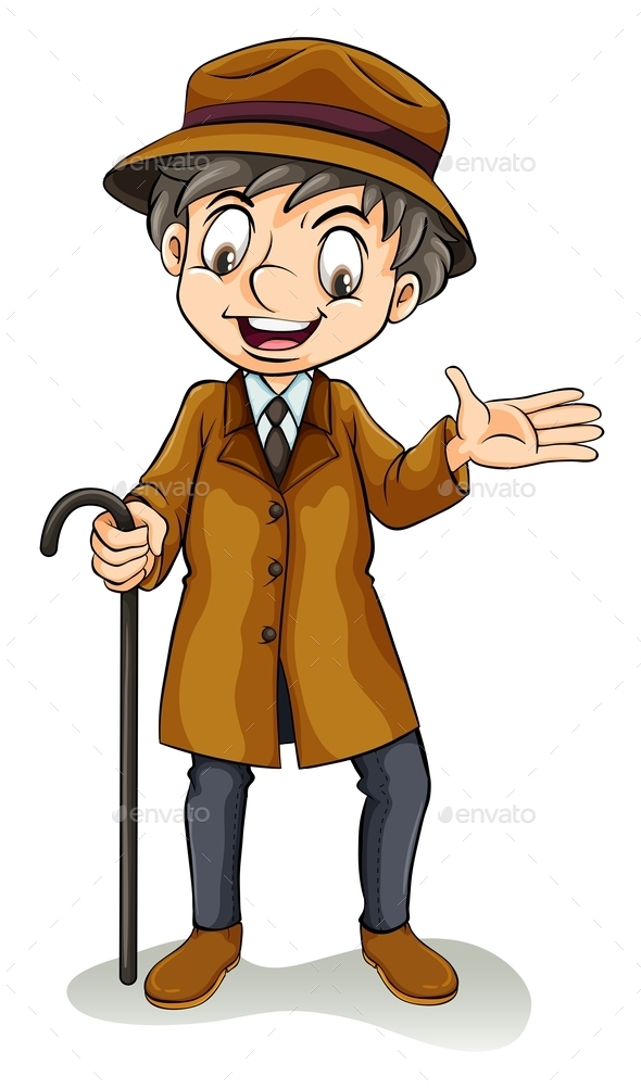 GraphicRiver Happy Boy Holding a Cane 11010530