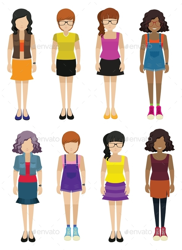 GraphicRiver Faceless Ladies Wearing Fashionable Dresses 11010554