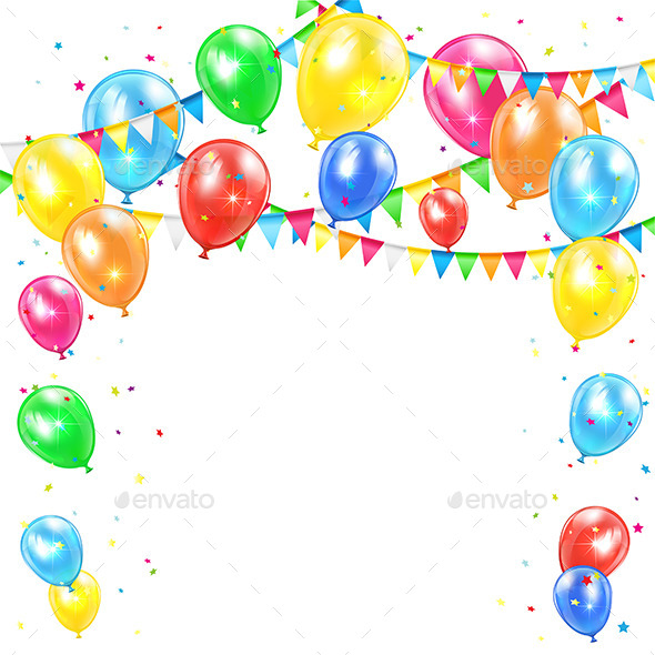 GraphicRiver Holiday Background with Balloons 11010565