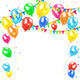 Holiday Background with Balloons - GraphicRiver Item for Sale