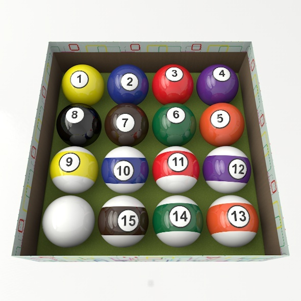 3DOcean Pool Balls Set 11010574