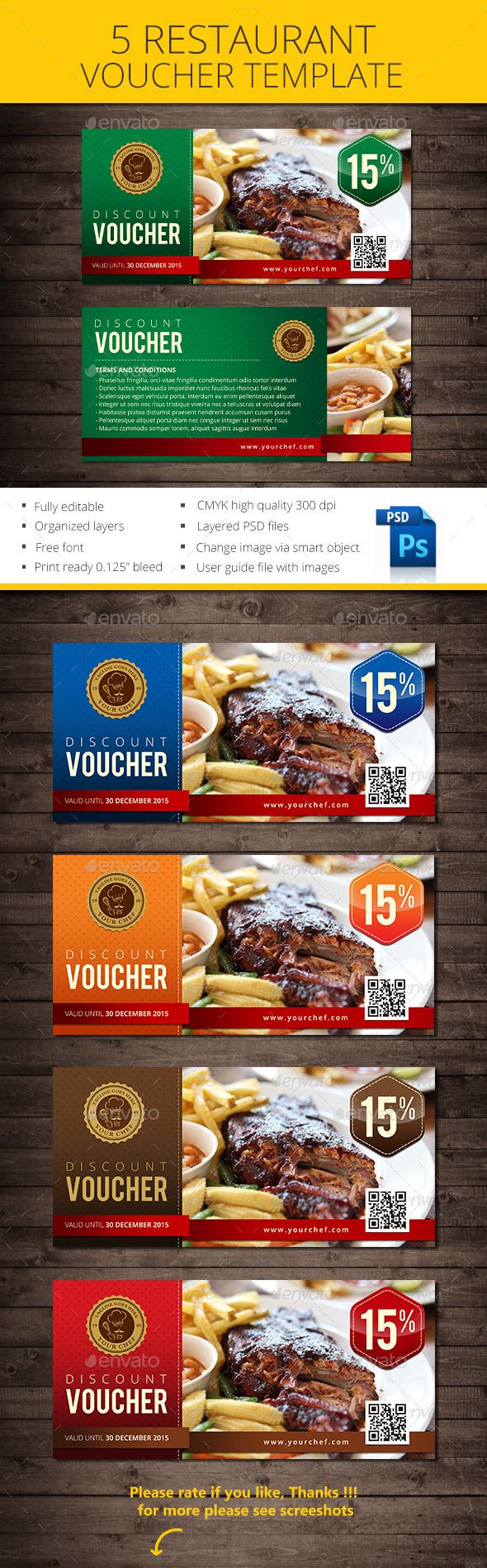 GraphicRiver Restaurant Voucher 10957621