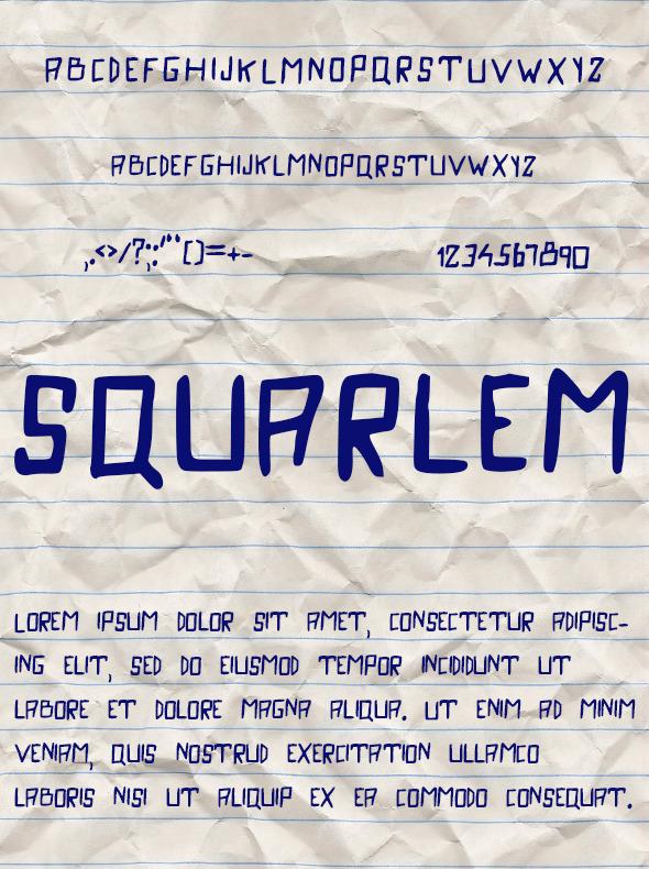 GraphicRiver Squarlem Font 11010684