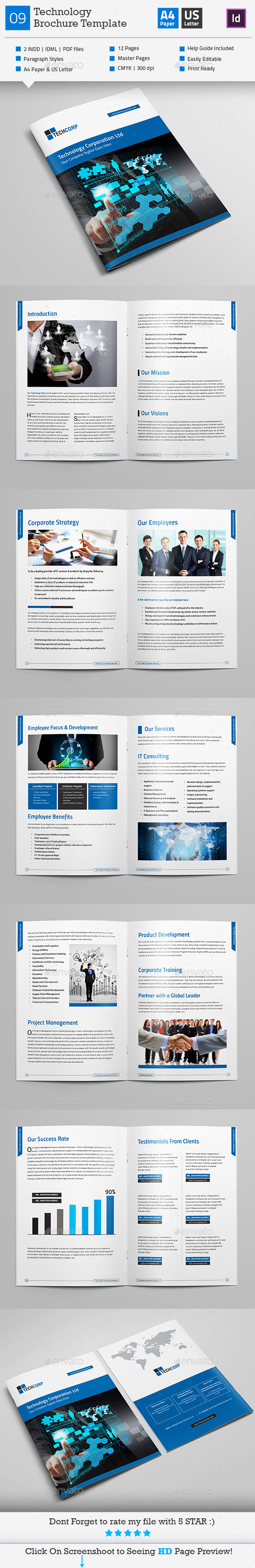 GraphicRiver Technology Brochure Template V9 10980664