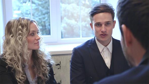 Successful Businessmen Discussing Business