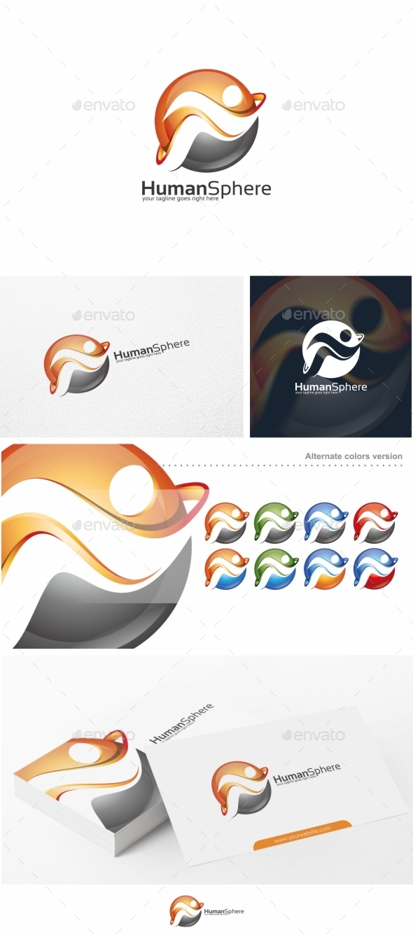 GraphicRiver Human Sphere People Logo Template 11010732