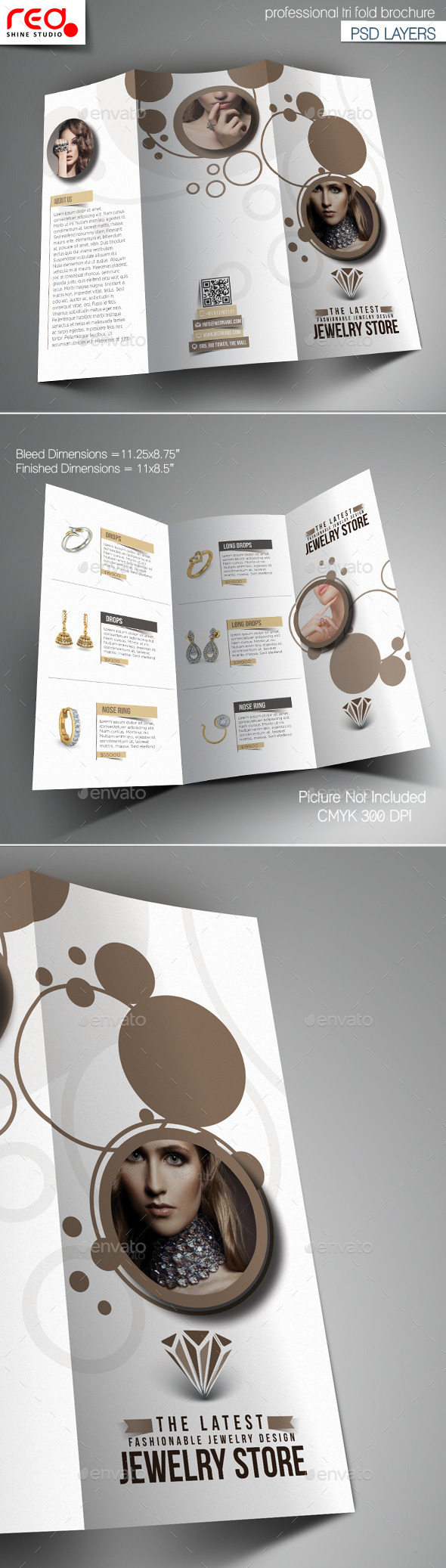 GraphicRiver Jewelry Store Trifold Brochure Template 11011133