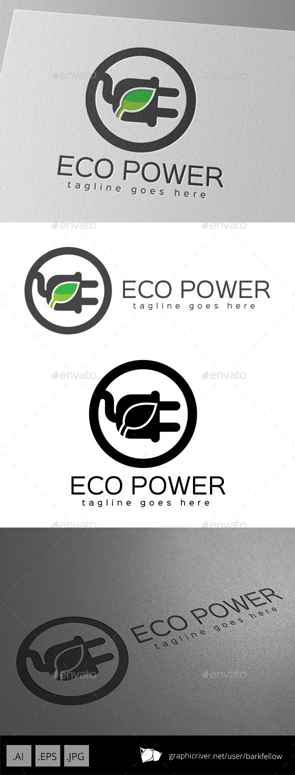 GraphicRiver Eco Power Logo Design 11011161