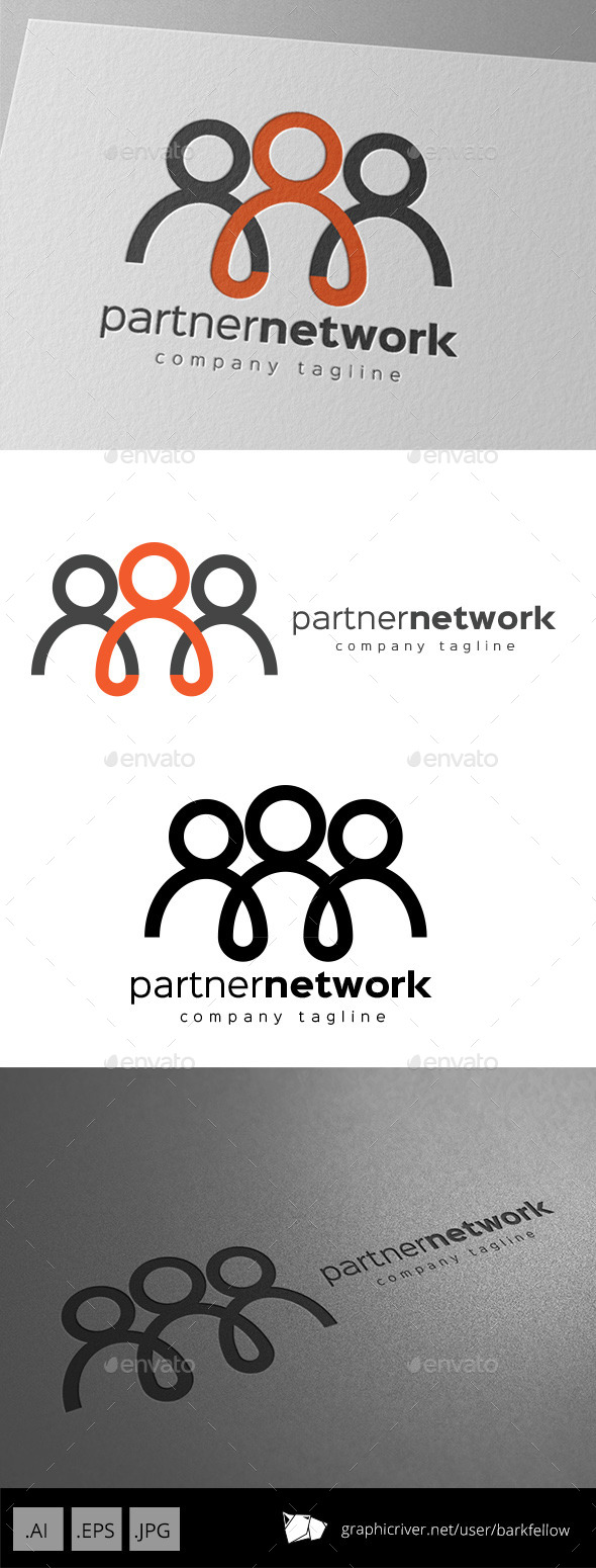 GraphicRiver Partner Network Logo Design 11011199