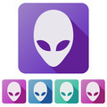 Set Flat icons of Alien head creature - PhotoDune Item for Sale