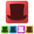 Set Flat icons of black gentleman hat cylinder - PhotoDune Item for Sale