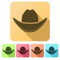 Set Flat icons of Black cowboy hat. - PhotoDune Item for Sale