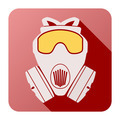 Flat icon of gas mask respirator. - PhotoDune Item for Sale