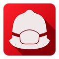 Flat icons of fireman helmet - PhotoDune Item for Sale