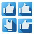 Flat style of like button for social networking - PhotoDune Item for Sale