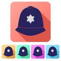 Set Flat icons of helmet metropolitan British police - PhotoDune Item for Sale