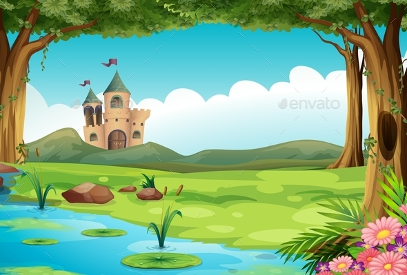 GraphicRiver Castle and Pond 11011317