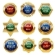 Golden Sale Labels - GraphicRiver Item for Sale