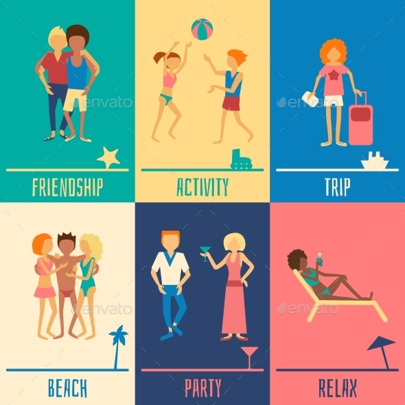 GraphicRiver Vacation People Set 11011565