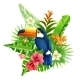 Tropical Flowers Illustration - GraphicRiver Item for Sale