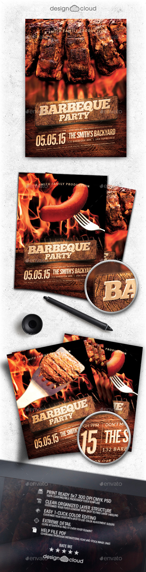 GraphicRiver BBQ Party Flyer Template 11011639