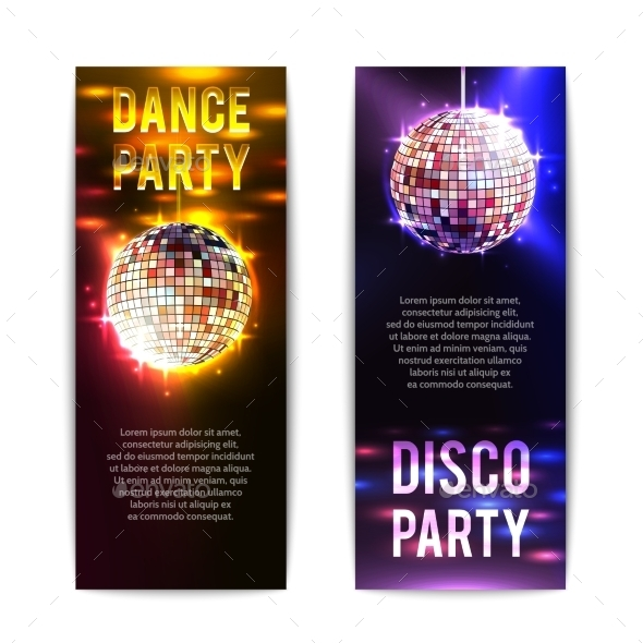 GraphicRiver Vertical Disco Party Banners 11011638