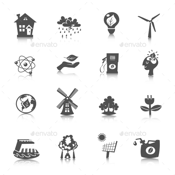 GraphicRiver Eco Energy Icons Set 11011657