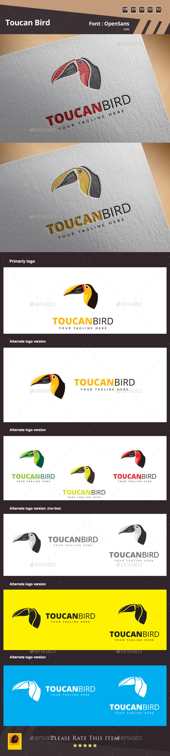 Toucan Bird Logo Template
