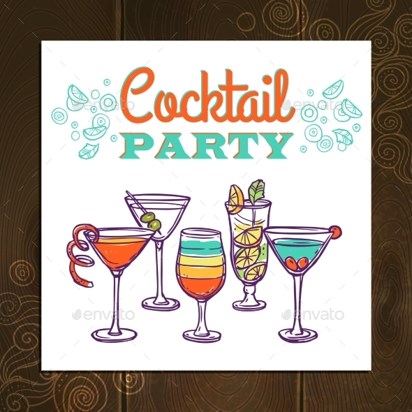 GraphicRiver Cocktail Party Poster 11011684