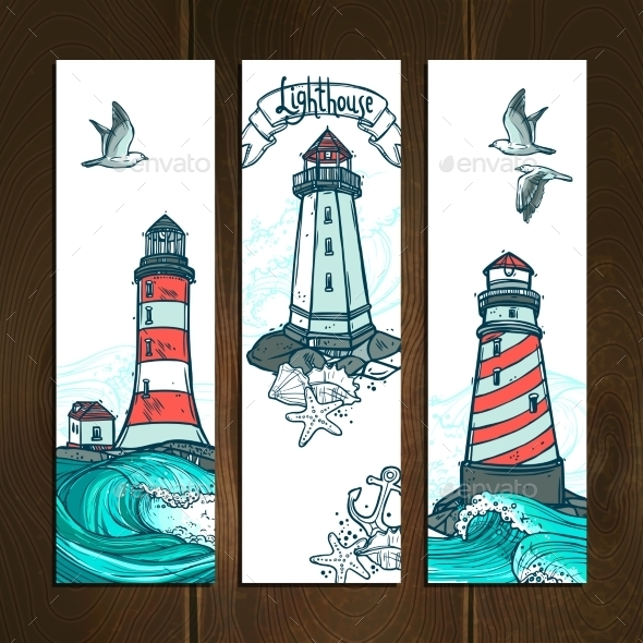GraphicRiver Lighthouse Banner Set 11011690