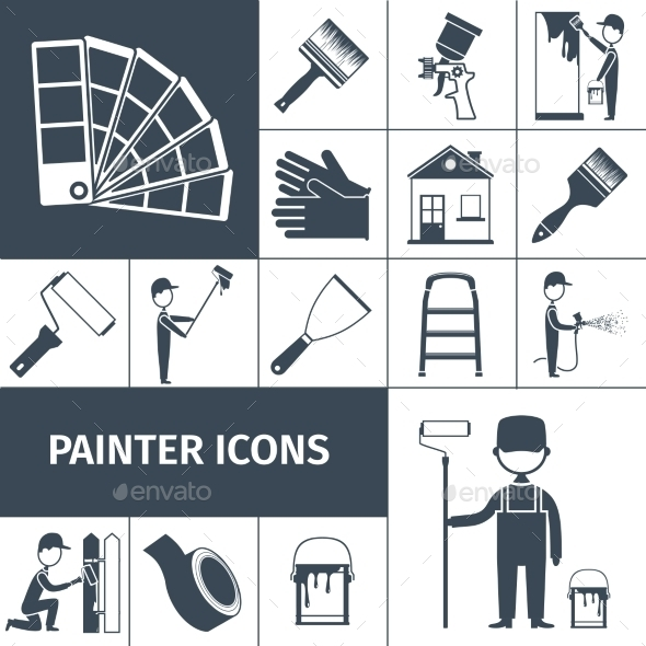 GraphicRiver Painter Icons Set 11011727
