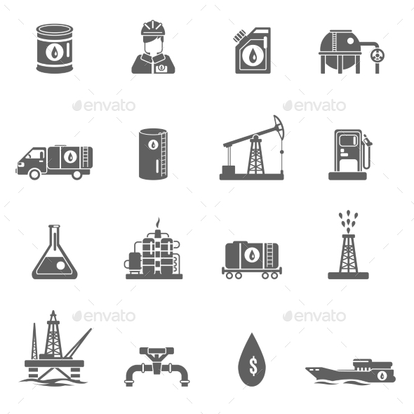 GraphicRiver Oil Industry Icon 11011730