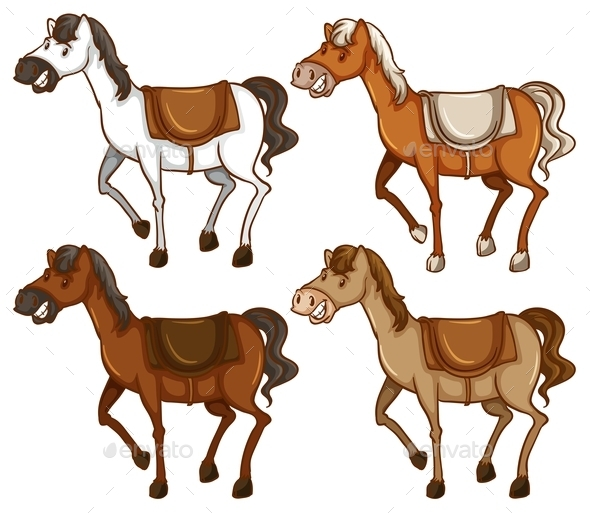 GraphicRiver Four Horses 11011736