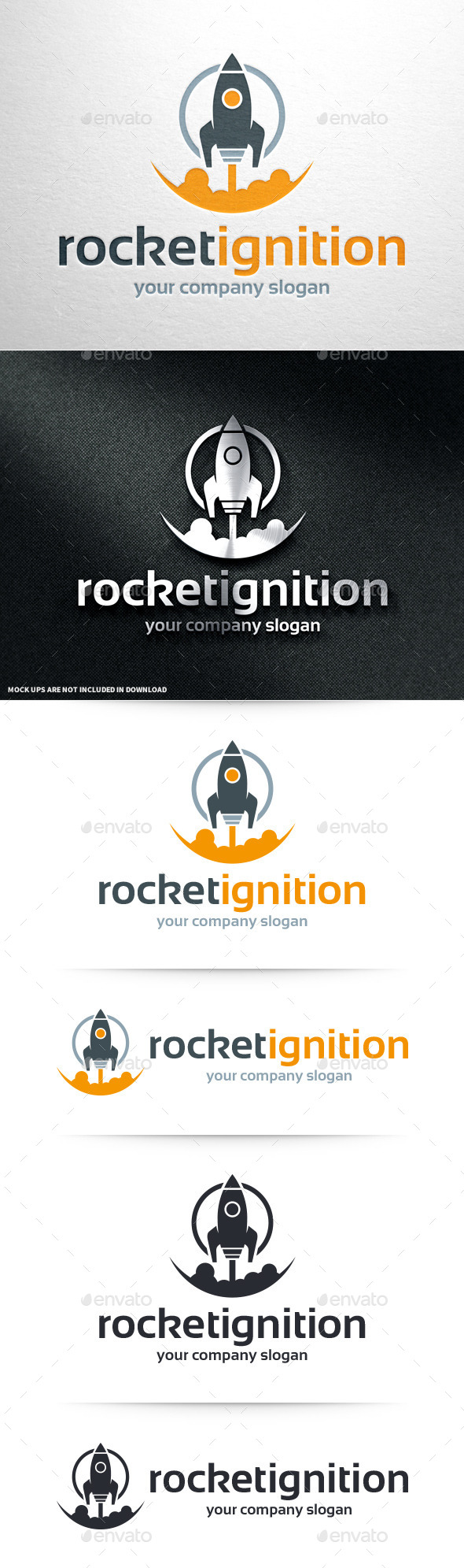 GraphicRiver Rocket Ignition Logo Template 11011768