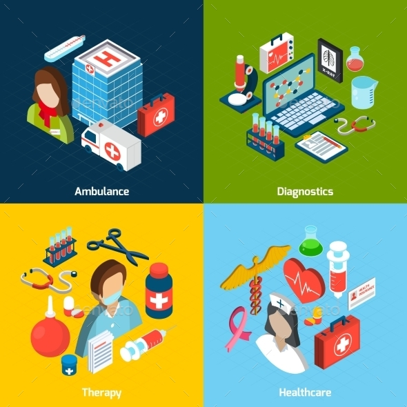 GraphicRiver Medical Isometric Set 11011778