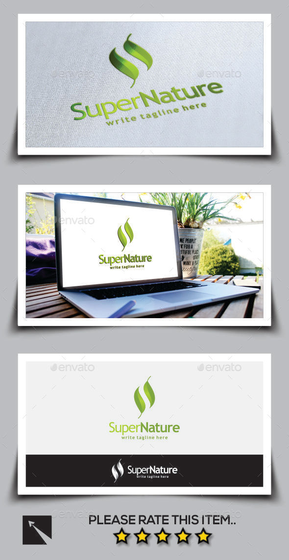 GraphicRiver Herbal Letter S Logo Template 11011782