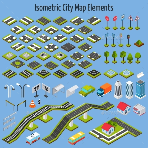 GraphicRiver Isometric City Map Elements 11011794