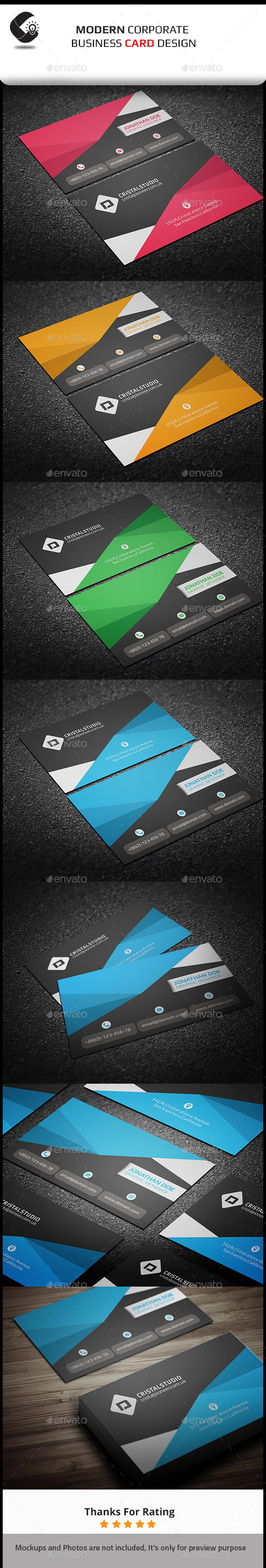 GraphicRiver Corporate Business Card 11011803
