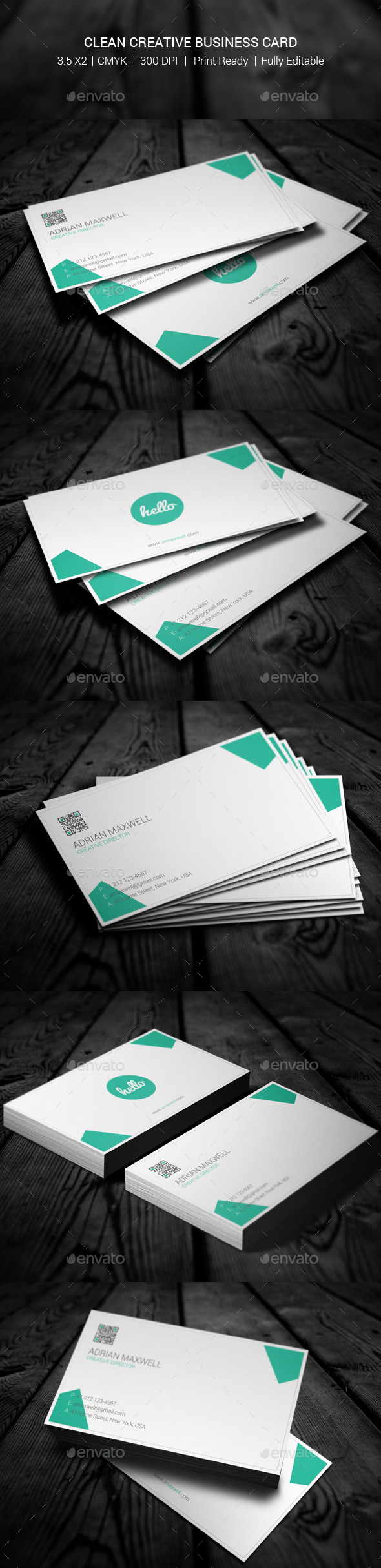 GraphicRiver Clean Creative Business Card 11011925