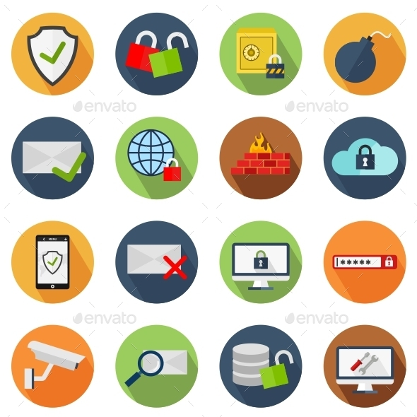 GraphicRiver Security Icons 11012123