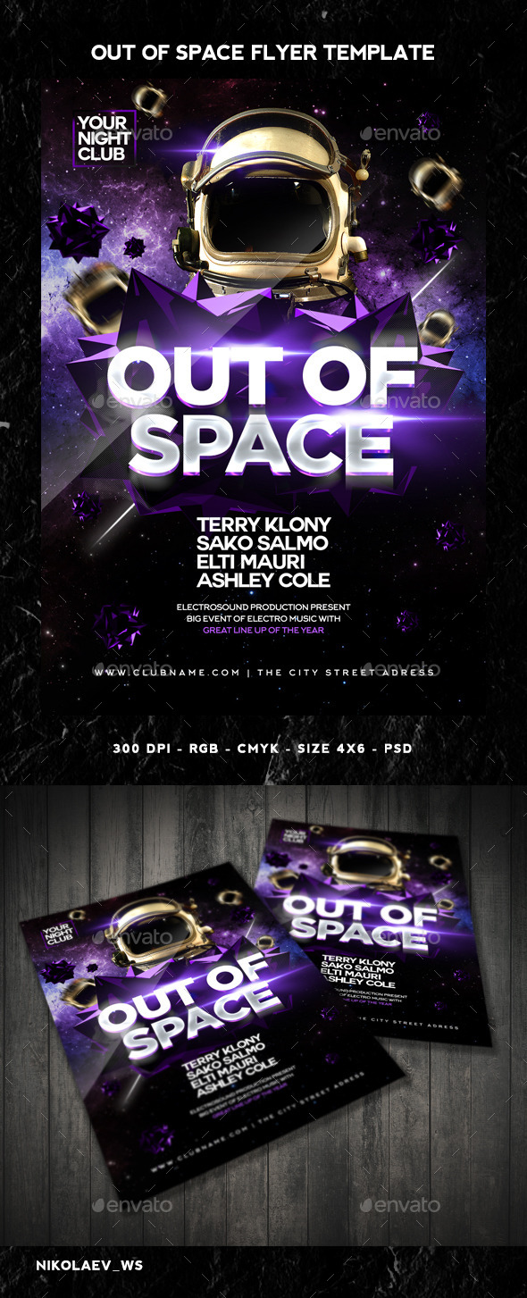 GraphicRiver Out of Space Flyer 10983422