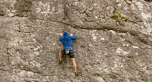 Rock climbing and mountaineering