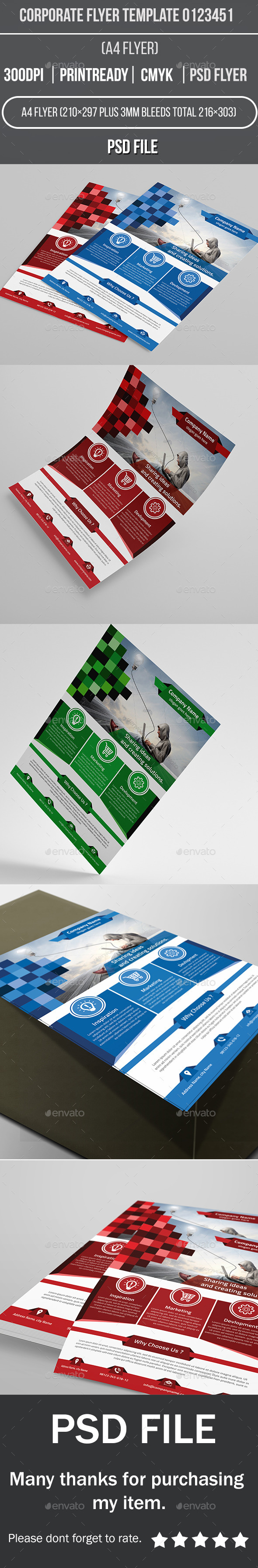 GraphicRiver Corporate Flyer Template 0123451 11012361